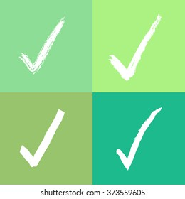 Green tone check mark set Vector EPS10, Great for any use