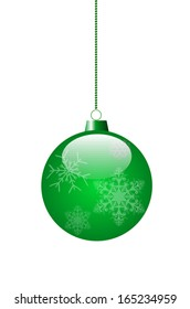 green toy for decoration of a Christmas fir-tree. vector EPS 10.