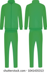Green tracksuit. vector illustration