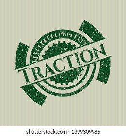 Green Traction distress grunge seal