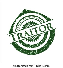 Green Traitor distressed rubber texture