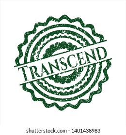 Green Transcend distress grunge seal