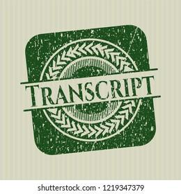 Green Transcript distress rubber grunge texture stamp