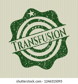 Green Transfusion distress rubber stamp with grunge texture