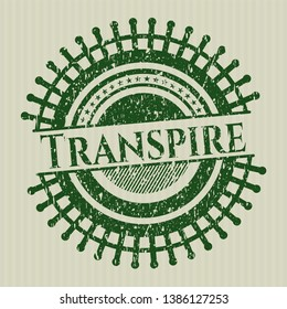 Green Transpire distressed grunge stamp