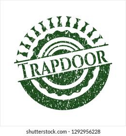 Green Trapdoor distressed rubber grunge stamp