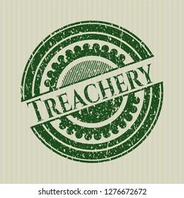Green Treachery distress rubber grunge stamp