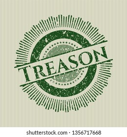 Green Treason distress with rubber seal texture