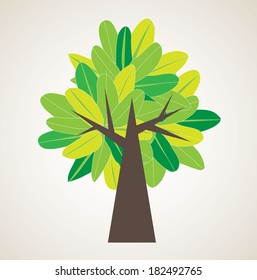 green tree background/template