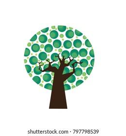 Green tree Grapics vector