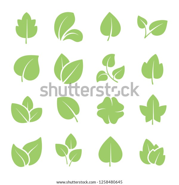 Green Tree Leaves Ecology Friendly Natural Stock Vector Royalty