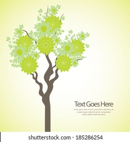green tree template