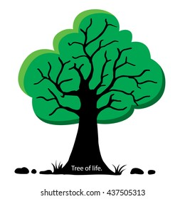 Green tree. Vector illustration,reduce global warming