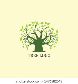 Green tree vector image, natural, for business and community logos