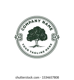 green tree vintage rustic logo vector template Logo Templates | Suitable for : Company Logo, Business, Office, Studio, Organization, Foundation or your product name, etc.