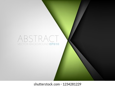 Green triangle geometric vector background with white and black space for background design