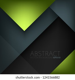Green triangle vector geometric background overlap on space for design