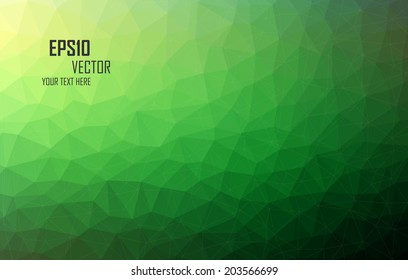 Green Triangular Abstract Background Eps10 Vector