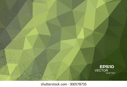 Green Triangular Abstract Background Eps10 Vector.