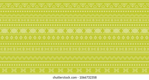 Green tribal ikat seamless repeat pattern design. Great for fabric, wallpaper, invitations, scrapbooking. Surface pattern design.