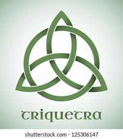 Green Triquetra symbol with gradients