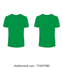 3a2a92e86 Green T-shirt template using for fashion cloth design and accessory for  designer to make