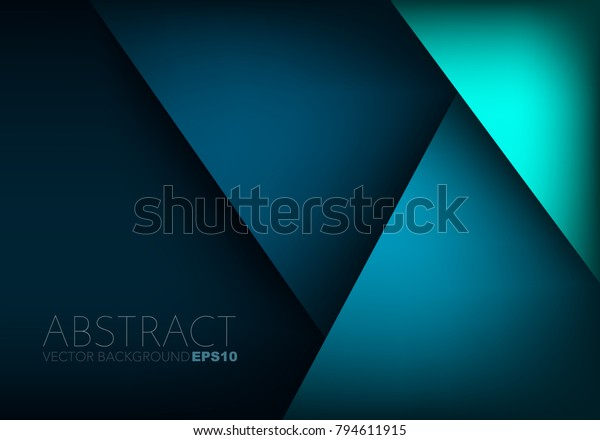 Green turquoise and Blue background vector overlap layer on dark space for background design
