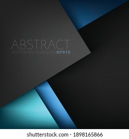 Green turquoise and blue Vector background overlap layer with spaces for background header design