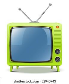 Green TV-set icon