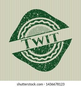 Green Twit distress rubber texture