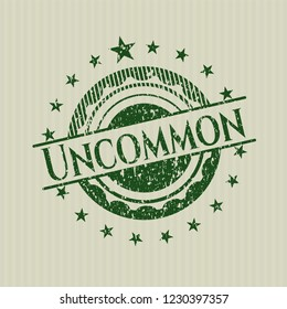 Green Uncommon distressed rubber grunge seal