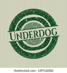 Green Underdog distressed grunge seal