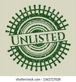 Green Unlisted distressed rubber seal