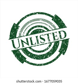 Green Unlisted distressed rubber stamp