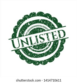 Green Unlisted rubber grunge seal