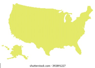 United States Map Us Dots Stock Vector (Royalty Free) 500169490 ...