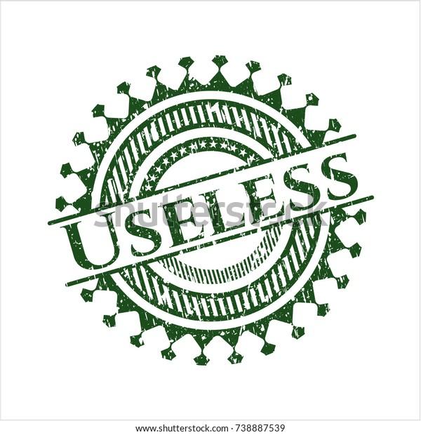 Green Useless distress rubber grunge stamp