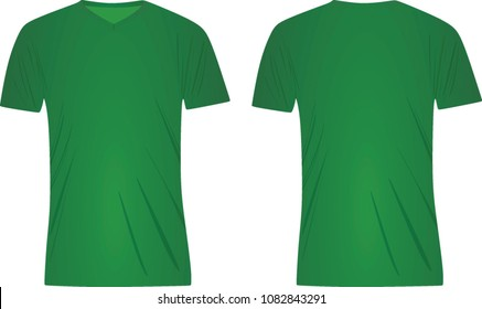 Blank Green T Shirt Template