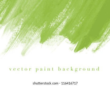 Green vector abstract hand painted watercolor daub background