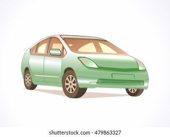 Green Vector Car.
