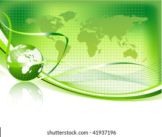 green vector design template with earth globe