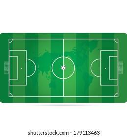 green vector editable soccer field