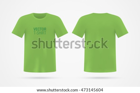 Green Vector Tshirt Template Isolated On Stock Vector Royalty Free