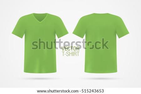f59e01e32 Green Vector Vneck Tshirt Template Mens Stock Vector (Royalty Free ...