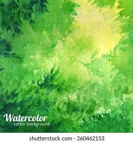 Green vector watercolor background