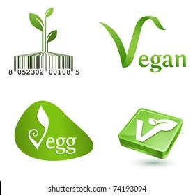 green vegetarian symbols