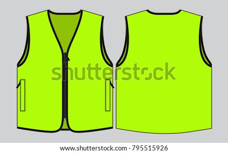 Green Vest Tank Top Template Stock Vector Royalty Free 795515926
