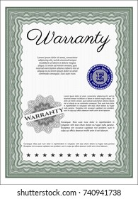 Green Vintage Warranty Certificate template. Customizable, Easy to edit and change colors. With quality background. Nice design.