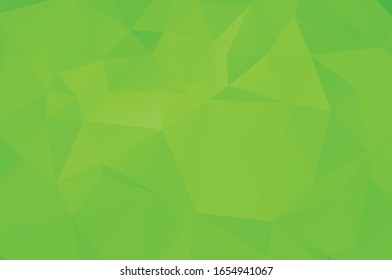 Green vivid abstract geometric background, vector from polygons triangle, mosaic