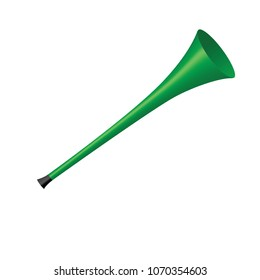 Green Vuvuzela isolated on a white background